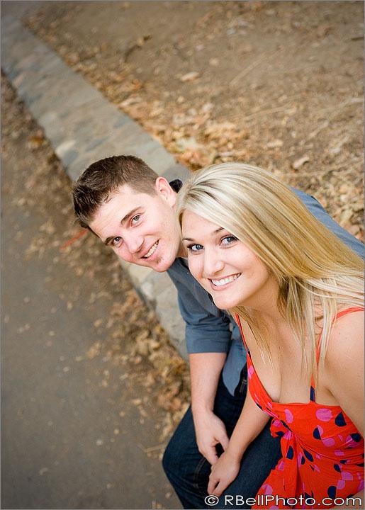 Orange engagement photography