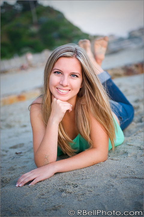 senior portrait beach photography