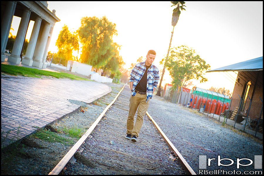 Redlands Train Station Photography | Yucaipa Senior Portraits