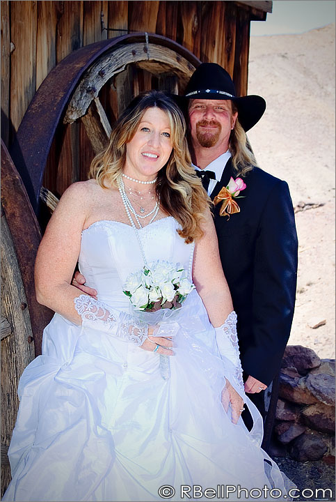 Valerie + Doug Cowboy Wedding Photography –  Calico Ghost Town – Barstow, CA