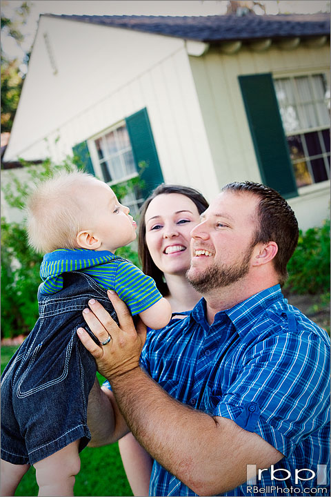 Adam + Tiffany + Caleb – Corona Family Portrait